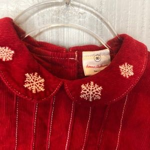 Hanna Andersson Dresses - Hanna Andersson 80/2 Red Dress Corduroy